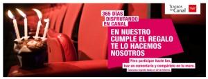 concurso facebook cumpleaños teatros canal