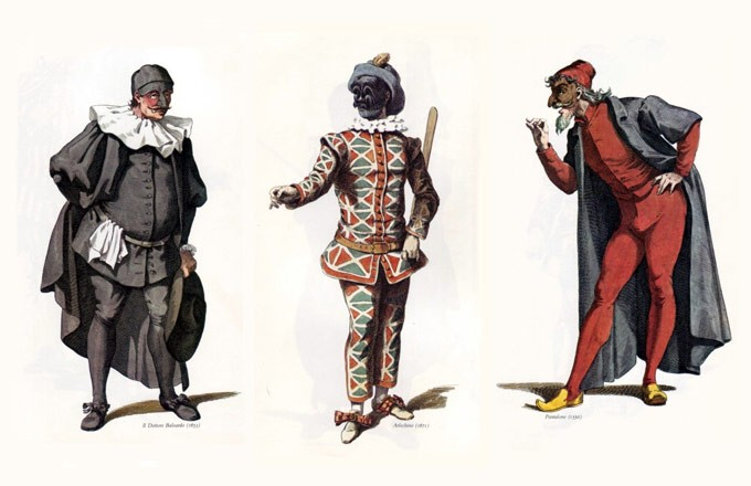 personajes-masculinos-teatro-universal-commedia-dellarte-maurice-sand