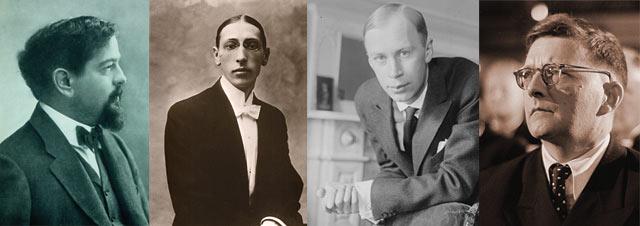 compositores de musica clasica-debussy-stravinsky-prokofiev-shostakovich