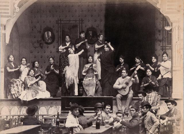 Palos del flamenco - Cafe_cantante-Sevilla-1885-Foto-EMILIO_BEAUCHY